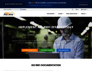 9001academy.com screenshot