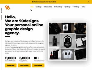 90designs.com screenshot