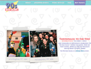 90sbarcrawl.com screenshot