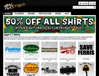90stshirts.com screenshot