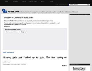 911fonts.com screenshot