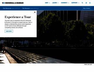 911memorial.org screenshot