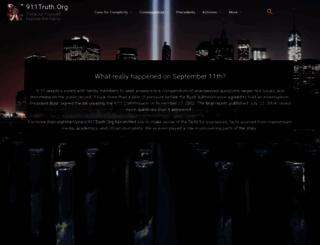 911truth.org screenshot