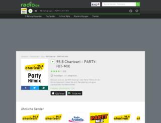 955charivariparty.radio.de screenshot