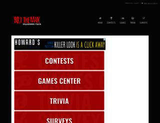 981themax.listenernetwork.com screenshot