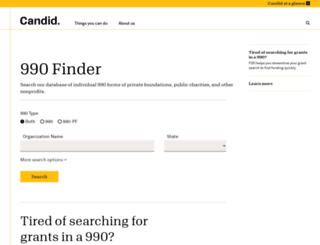 990finder.foundationcenter.org screenshot