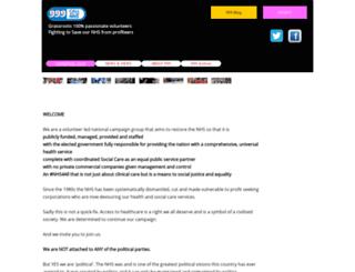 999callfornhs.org.uk screenshot