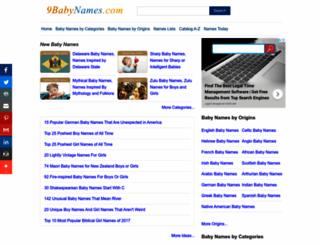 9babynames.com screenshot