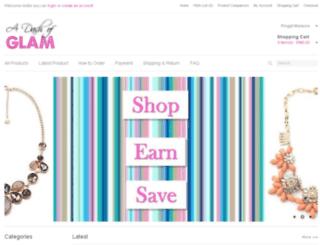 a-dash-of-glam.com screenshot
