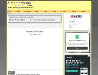 a-levelphysicstutor.com screenshot