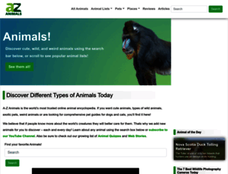 a-z-animals.com screenshot
