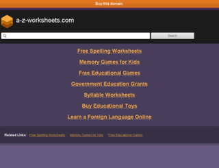 a-z-worksheets.com screenshot