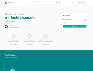 a1-fashion.co.uk screenshot