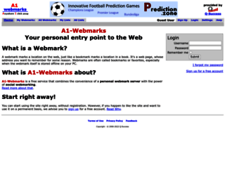 a1-webmarks.com screenshot