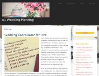 a1-wedding-planning.com screenshot