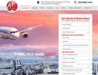 a1airportparking.com.au screenshot