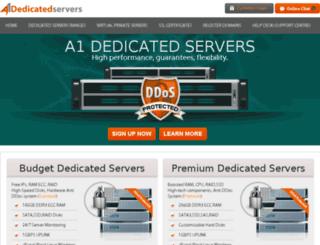 a1dedicatedservers.com screenshot