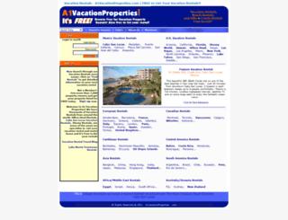 a1vacationproperties.com screenshot