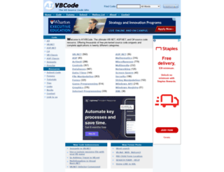 a1vbcode.com screenshot