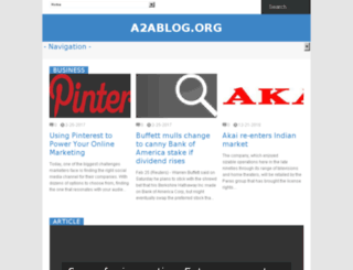 a2ablog.org screenshot