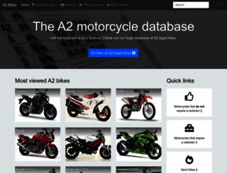 a2bikes.co.uk screenshot