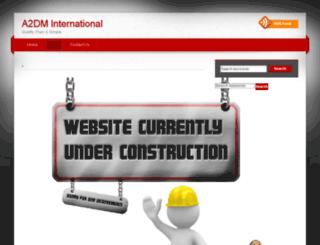 a2dminternational.com screenshot