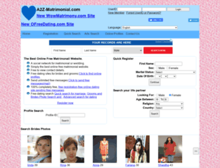 a2z-matrimonial.com screenshot