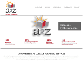 a2zcollegeplanning.com screenshot