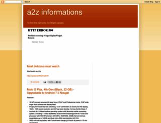 a2zinformations.blogspot.com screenshot