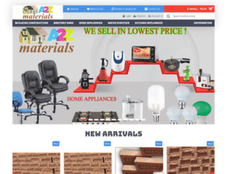 a2zmaterials.com screenshot