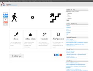 a2zmenu.com screenshot