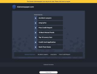 a2znewspaper.com screenshot