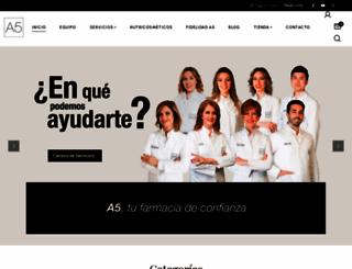 a5farmacia.com screenshot