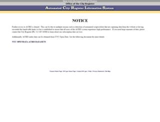 a836-acrissds.nyc.gov screenshot