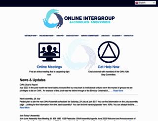 aa-intergroup.org screenshot