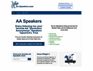 aa-speakers.com screenshot