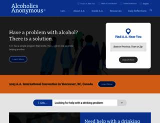 aa.org screenshot