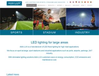 aaa-lux-lighting.com screenshot