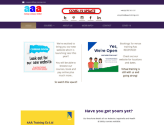 aaa-training.com screenshot