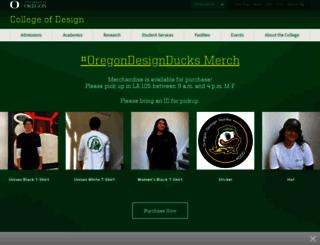 aaa.uoregon.edu screenshot