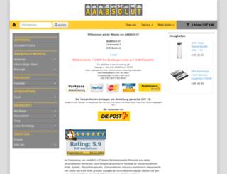 aaabsolut.ch screenshot