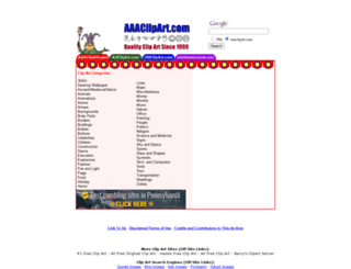 aaaclipart.com screenshot