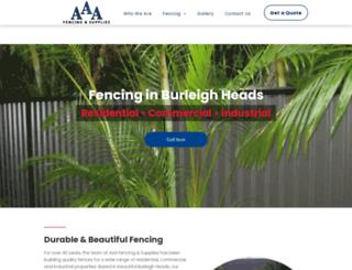 aaafencing.com.au screenshot