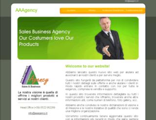 aaagency.it screenshot
