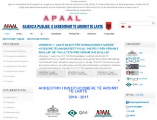 aaal.edu.al screenshot