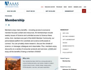 aaasmember.org screenshot