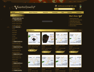 aaasteeljewelry.com screenshot