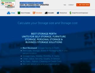 aaastorage.com.au screenshot
