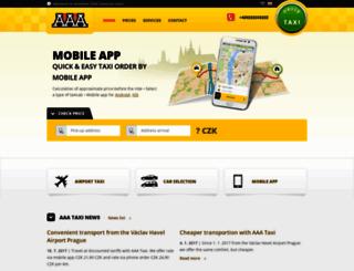 aaataxi.cz screenshot