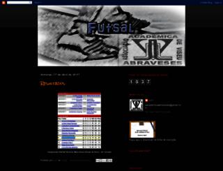 aacademicadeviseu-futsal.blogspot.com screenshot